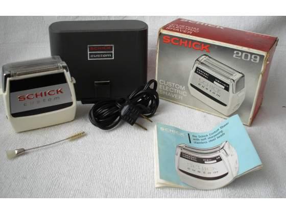 Rasoio vintage Schick Custom 209 Electric Shaver