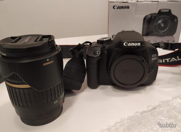 Reflex Canon EOS 600D + Obiettivo Tamron
