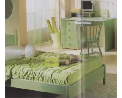 Camere da Letto Stile Rustico Completa Verde cod 627 nuova