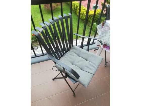 Sedie in ferro richiudibile nere
