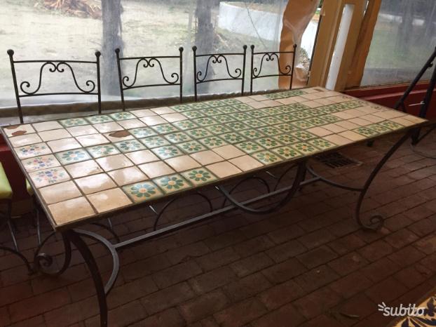 Tavolo rettangllare ferro battuto