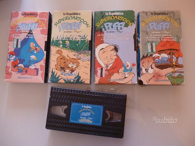 4 VHS della serie I Puffi
