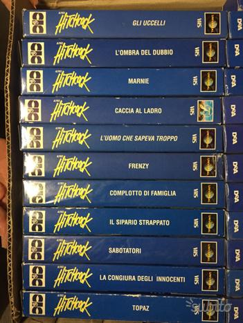 Capolavori di Hitchcock in nastro VHS