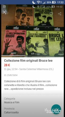 Collezione film bruce lee originale