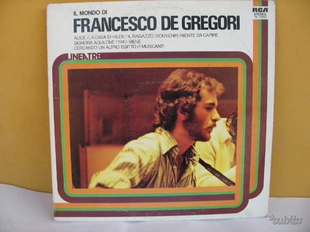 Disco vinile 33 giri lp francesco de gregori
