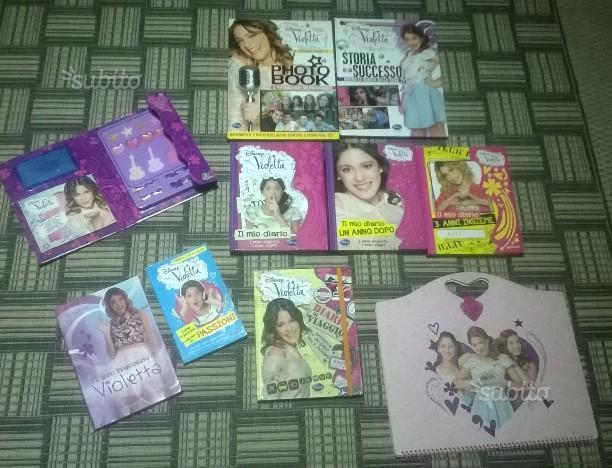 Lotto Violetta Disney libri, copripiumino ecc