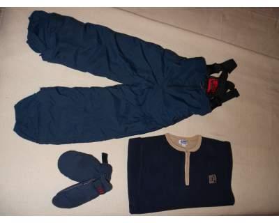 Salopette da sci + guanti + pail (chicco)