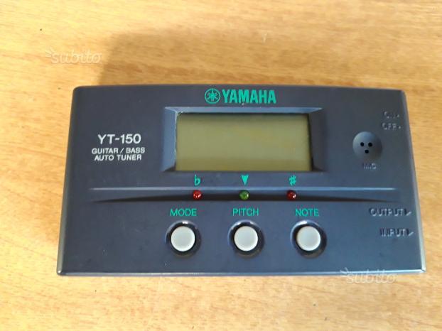 Accordatore YAMAHA YT-150 per chitarra e basso