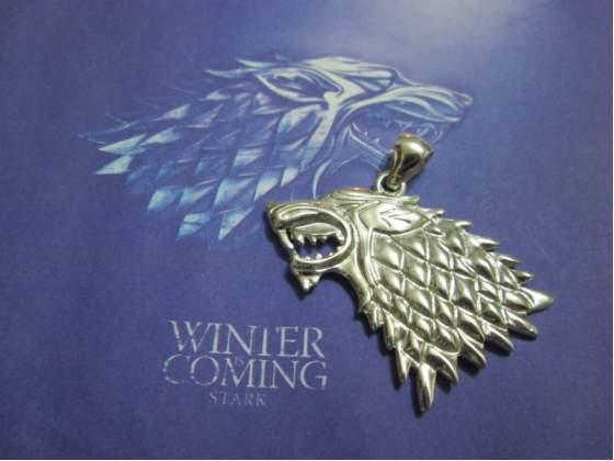 Trono di Spade ciondolo casata Stark in argento