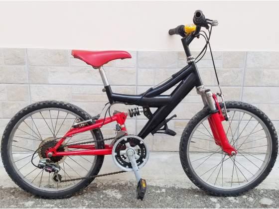 """Bici bicicletta bambino mtb 20"""" ammortizzata mountain bike"""