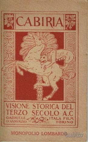 Cabiria  visione storica del terzo secolo a.c