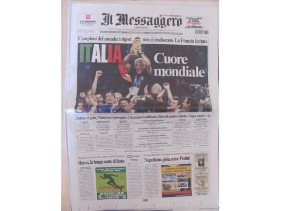 Italia campione del mondo. il Messaggero