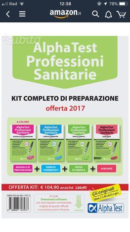 Kit di Alpha test professioni sanitarie