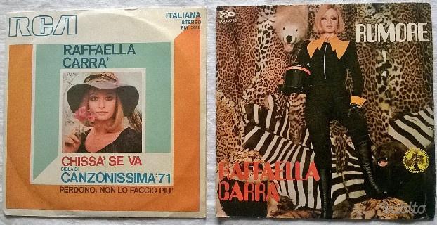 (G&B) Vinili: lotto 2 pz 45 giri Raffaella Carrà