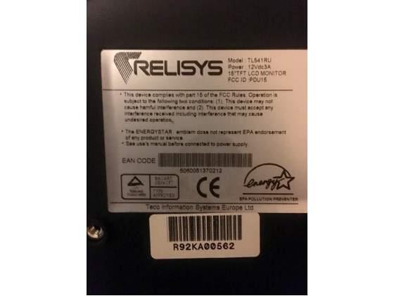 """Schermo 15"""" LCD per PC RELISYS TL541 RU"""
