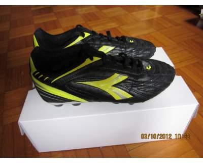 Scarpe da calcio bambino Diadora, nere/gialle, N. 36