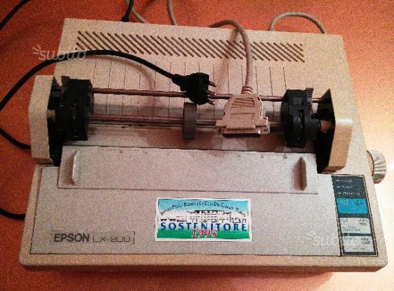 Stampante EPSON LX 800 a nastro nero