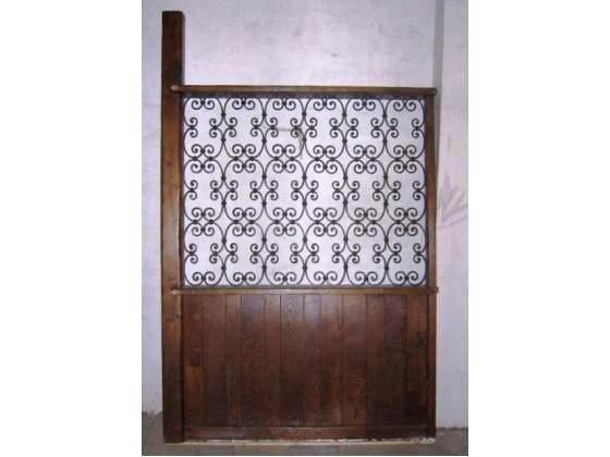 Mobile divisorio in ferro battuto e legno, open space,