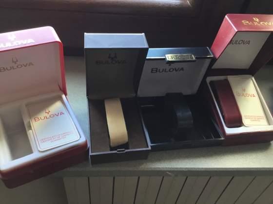 Scatole per orologi anni 70 Sono marca Bulova e Lanco