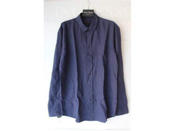 Trussardi uomo camicia in lino blu