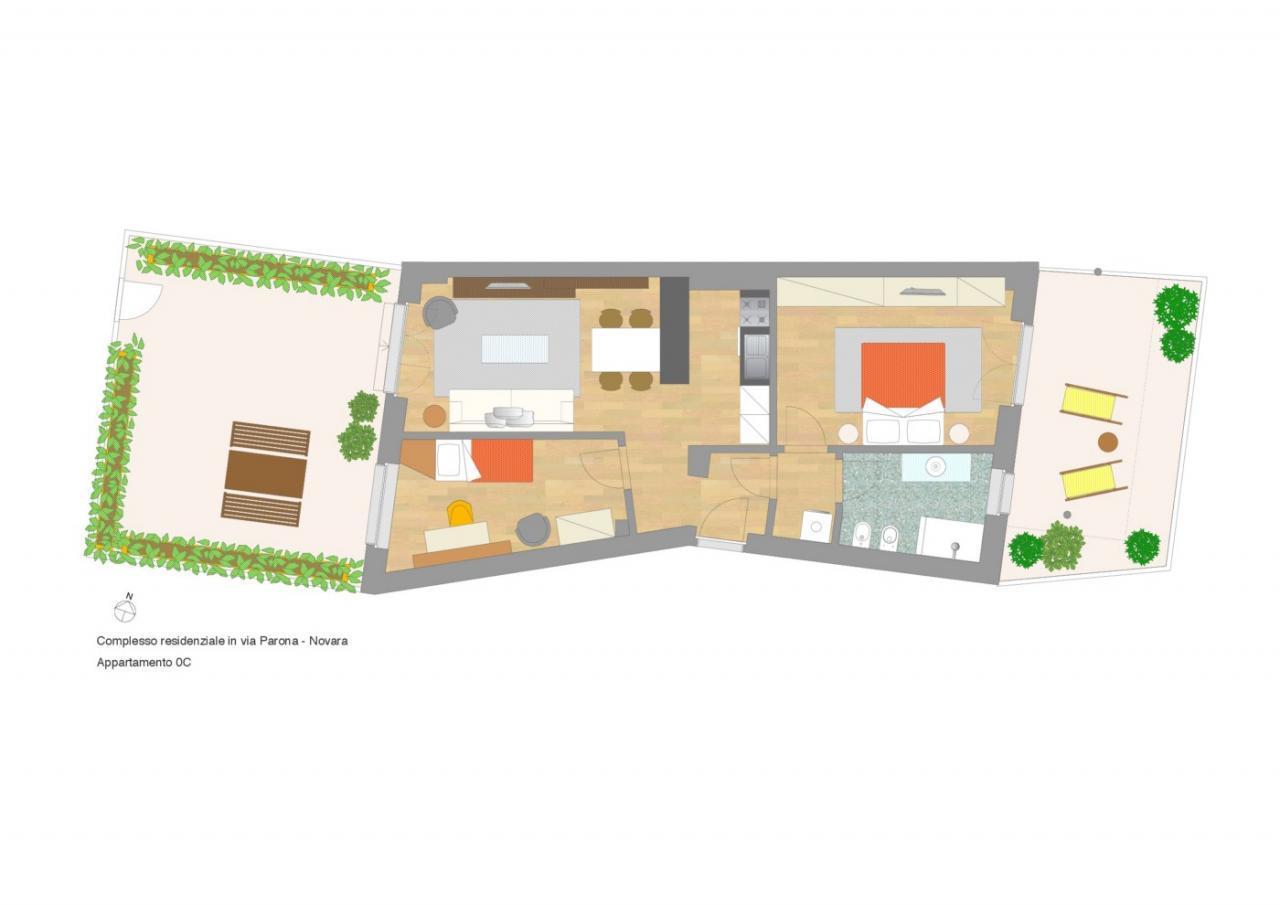 Appartamento trilocale 88 mq, provincia di novara