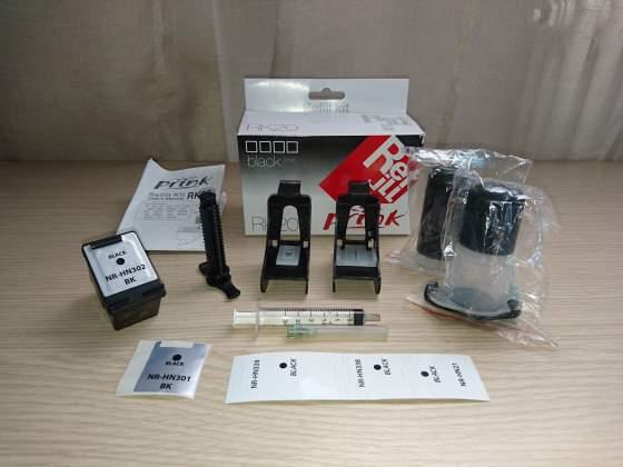 Kit ricarica Prink + Cartuccia stampante HP 301 Nero