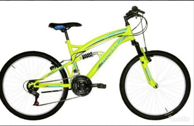 Bicicletta mtb telaio inox e ruote alluminio