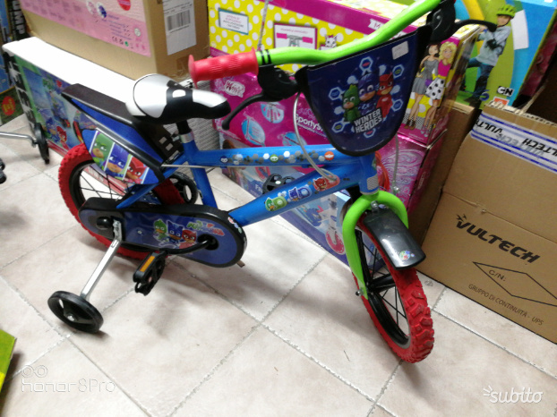 "Bicicletta per bambini 12"" pj masks super pigiamin"