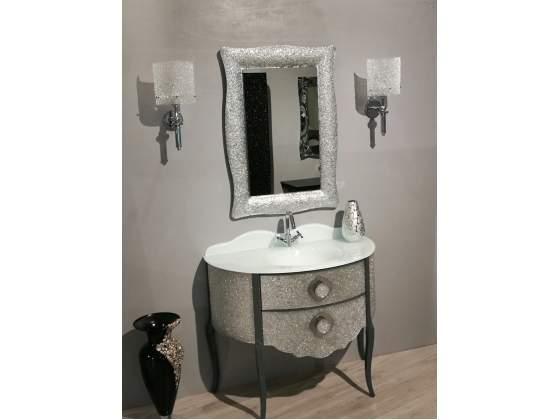 Mobile da bagno in cristallo con top cristallo colore a