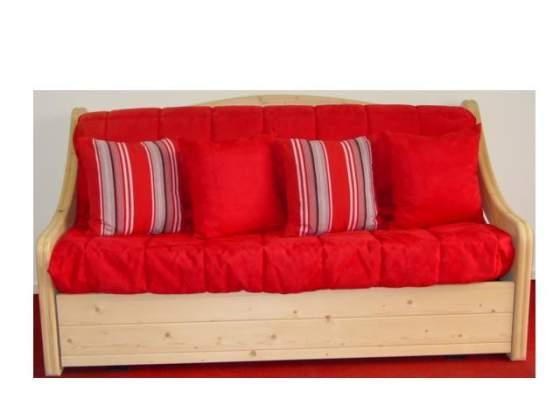 Panca letto giropanca divano letto in legno posot class for Divano letto matrimoniale piccolo