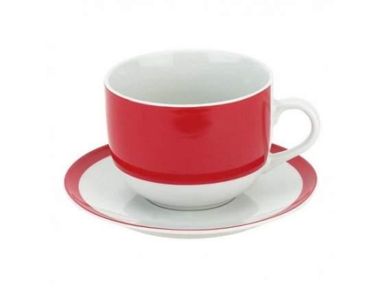 Tazze the con piatto metropol red in finissima porcellana