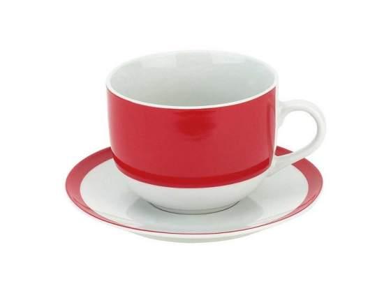 Tognana set 2 tazze colazione con piattino olimpia red