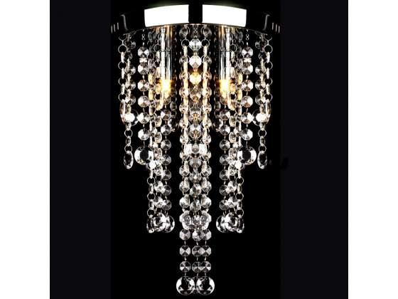 VidaXL Lampadario in Metallo Bianco con Perline in Cristallo