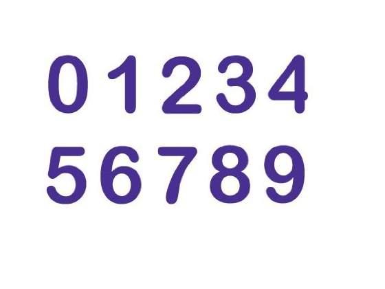 Wilton, Set 10 stampini a forma di numeri