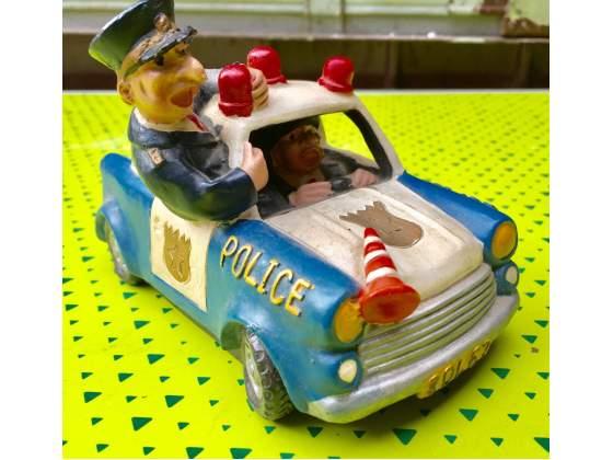 2 salvadanai macchina polizia e taxi