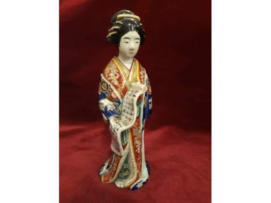 359 - ceramica geisha in ceramica dipinta