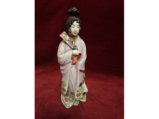 371 - geisha in ceramica dipinta - 26 cm