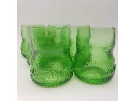 Bicchieri pz. 6 vetro averna verde vintage