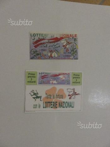 Cartoline biglietti lotteria