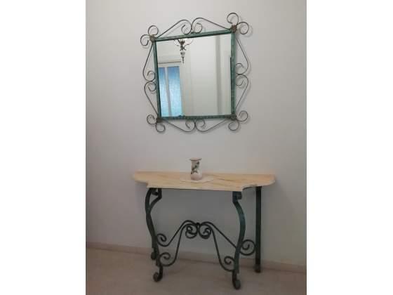 Consolle in ferro battuto + specchio per ingresso