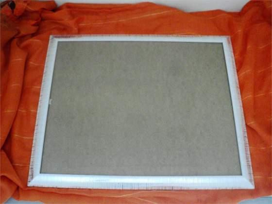 Cornice in legno color argento cm 40 x 50 nuova