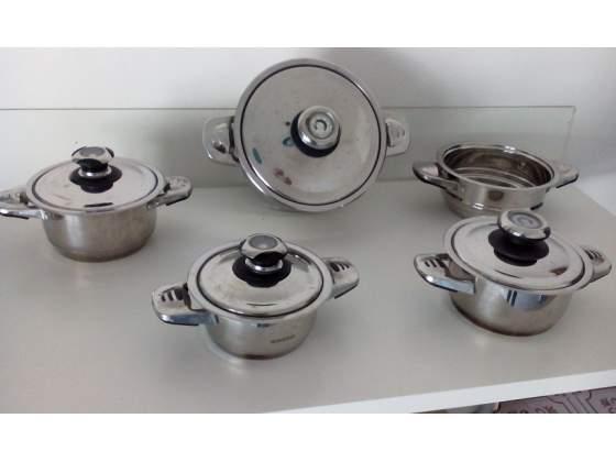 Pentole in acciaio Bavaria e Platinum, inox