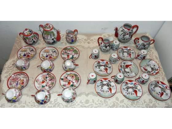 Servizio thè caffè in porcellana giapponese anni'30