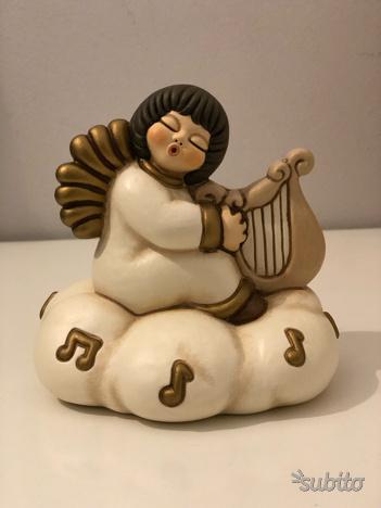 Thun carillon in ceramica angelo con arpa