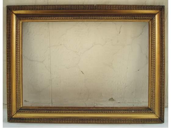 2 cornici in legno dorato(63x43 cm) (90 x 70 cm.)