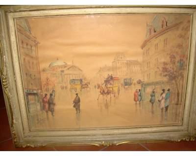 Acquerello Vienna a firma A.DOVERA