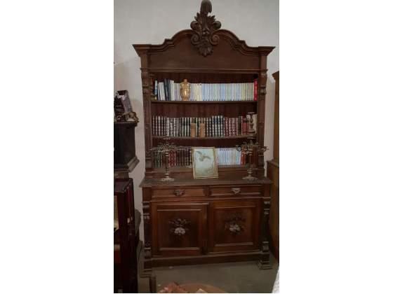 Libreria antica in noce del 800