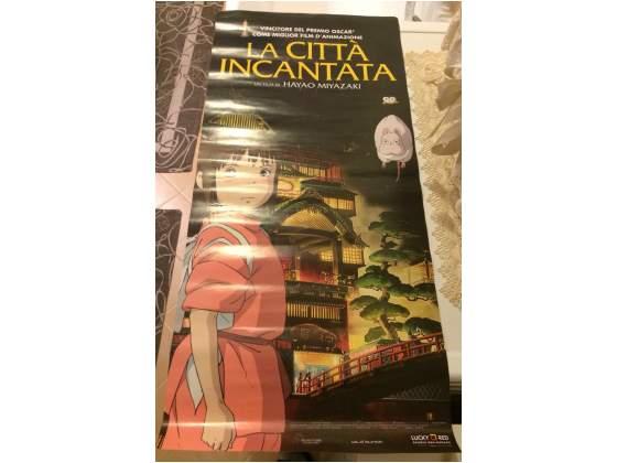 Manifesto Cinema Film Miyazaki La città Incantata