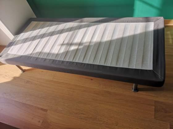 Odda letto singolo ikea con contenitore e posot class for Rete per letto singolo ikea