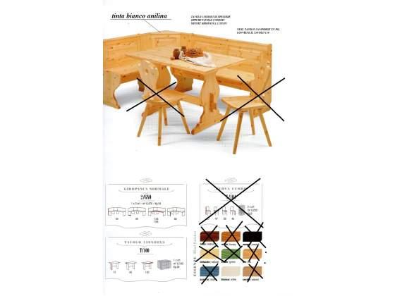 Set completo in legno massello di pino d